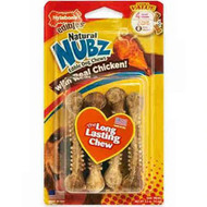 3 PACK of Nylabone Natural Nubz Edible Dog Chews Small Chicken -- 4 Dog Treats