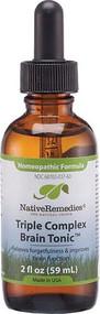 Native Remedies Triple Complex BrainTonic Homeopathic Formula -- 2 fl oz