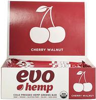 Evo Hemp Hemp Fruit & Nut Bars Cherry Walnut -- 12 Bars