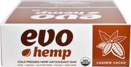 Evo Hemp Hemp Fruit & Nut Bars Cashew Cacao -- 12 Bars