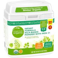 Simple Truth Organic Infant Formula Milk-Based Powder with Iron Tub -- 34 oz