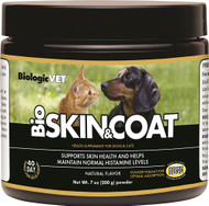 BiologicVET BioSkin & Coat Health Supplement for Dogs & Cats Natural -- 7 oz