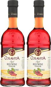 Colavita Aged Red Wine Vinegar -- 17 fl oz Each / Pack of 2