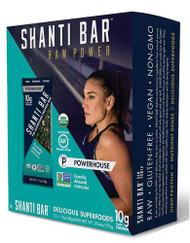 Shanti Bar Organic 10 G Protein Bar Gluten Free Crunchy Almond Spirulina -- 12 Bars