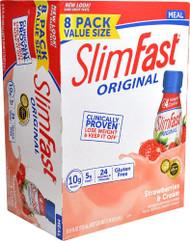 SlimFast Original RTD Meal Replacement Shake Strawberries & Cream -- 8 Bottles