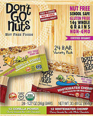 Don't Go Nuts Snack Bars Variety Pack -- 24 Bars