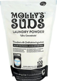 Mollys Suds Unscented Laundry Powder Ultra Concentrated -- 80.25 oz