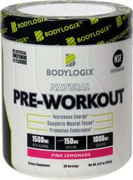 Bodylogix Natural Pre-Workout Pink Lemonade -- 30 Servings