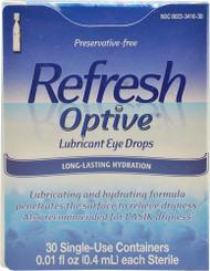 Refresh Optive Lubricant Eye Drops -- 30 Vials