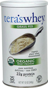 Teras Whey Grass Fed Organic Whey Protein Plain -- 12 oz