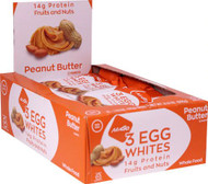 NuGo Nutrition Egg White Fruit and Nut Protein Bars Peanut Butter -- 12 Bars