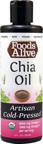 Foods Alive Organic Chia Oil Artisan Cold-Pressed -- 8 fl oz
