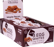 NuGo Nutrition Egg White Fruit and Nut Protein Bars Maple Pecan -- 12 Bars