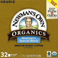 Newmans Own Organics Medium Roast Coffee K-Cup Pods Newmans Special Blend -- 32 K-Cups