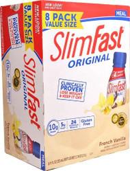 SlimFast Original RTD Meal Replacement Shake French Vanilla -- 8 Bottles
