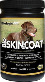 BiologicVET BioSkin & Coat Health Supplement for Dogs & Cats Natural -- 14 oz