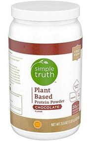 Simple Truth Plant Based Protein Powder Chocolate -- 21.6 oz