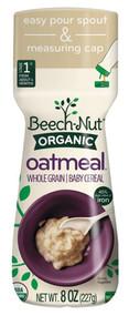 Beech-Nut Organic Baby Cereal Oatmeal -- 8 oz