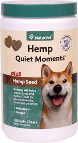 NaturVet Hemp Quiet Moments for Dogs -- 180 Soft Chews