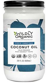 Wildly Organic Virgin Unrefined Coconut Oil -- 28 fl oz