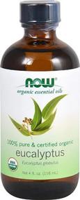 NOW Foods Organic Essential Oils Eucalyptus Oil -- 4 fl oz