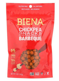 3 PACK of Biena Chickpea Snacks Barbeque -- 5 oz