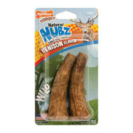 3 PACK of Nylabone Natural Nubs Edible Dog Chews Antler Medium Venison -- 2 Dog Treats