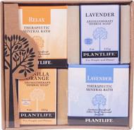 Plantlife Health-promoting Mineral Bath Salt Top 4 Pack Combo Soap Relax -- 1 Set