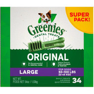Greenies Dental Dog Treats Original -- 34 Treats