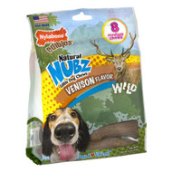 Nylabone Natural Nubs Edible Dog Chews Antler Medium Venison -- 8 Dog Treats