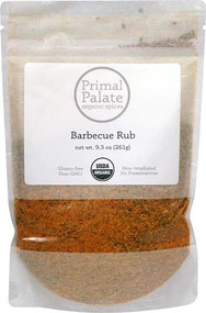 Primal Palate Organic Spices Barbecue Rub -- 9.3 oz