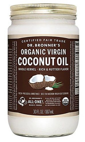Dr. Bronners Organic Virgin Coconut Oil -- 30 fl oz