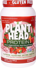 Genceutic Naturals Plant Head Protein Strawberry -- 30 Servings