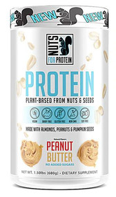 Nuts For Protein Plant-Based Protein Dietary Supplement Peanut Butter -- 1.5 lbs