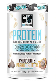 Nuts For Protein Plant-Based Protein Dietary Supplement Chocolate Peanut Butter -- 1.59 lbs