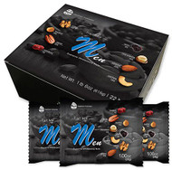 Daily Nuts & Fruits Trail Mix for Men - 6 Nuts 2 Fruits -- 22 Bags