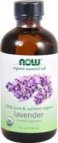 NOW Foods Organic Essential Oils Lavender Oil -- 4 fl oz