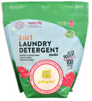 GrabGreen 3-in-1 Laundry Detergent Water Lily -- 100 Loads