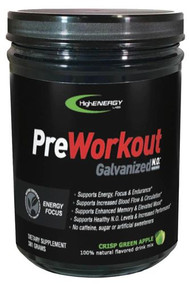 High Energy Labs Galvanized N.O. Pre-Workout Crisp Green Apple -- 30 Servings