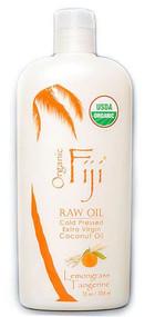 Organic Fiji Certified Organic Virgin Coconut Oil Lemongrass Tangerine -- 12 fl oz