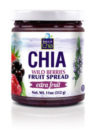 3 PACK of World of Chia Extra Fruit Chia Fruit Butter Wild Berries -- 11 oz