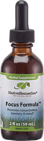 Native Remedies Focus Formula Herbal Supplement -- 2 fl oz