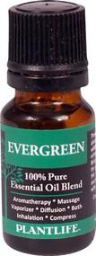 Plantlife 100% Pure Essential Oil Blend Evergreen -- 0.33 fl oz