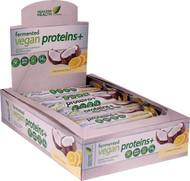 Genuine Health Fermented Vegan Proteins plus Protein Bars Digestive Support Lemon Coconut -- 12 Bars