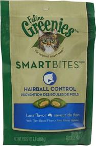 3 PACK of Greenies Feline SmartBites Hairball Control Tuna -- 2.1 oz