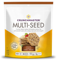 3 PACK of Crunch Master Multi-Seed Crackers Artisan Cheesy Garlic Bread -- 4 oz