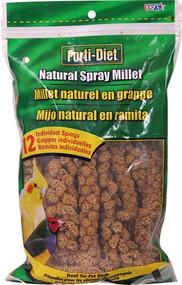 3 PACK of Kaytee Natural Spray Millet Treat For Pet Birds -- 12 Bird Treats