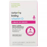 UpSpring, Baby, Liquid D3 Drops, Vitamin D,  0.31 fl oz (9.13 ml)