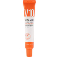 Some By Mi, V10 Vitamin Tone-Up Cream, Brightening & Moisture, 50 ml
