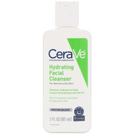 3 PACK of CeraVe, Hydrating Facial Cleanser, For Normal to Dry Skin, 3 fl oz (87 ml)